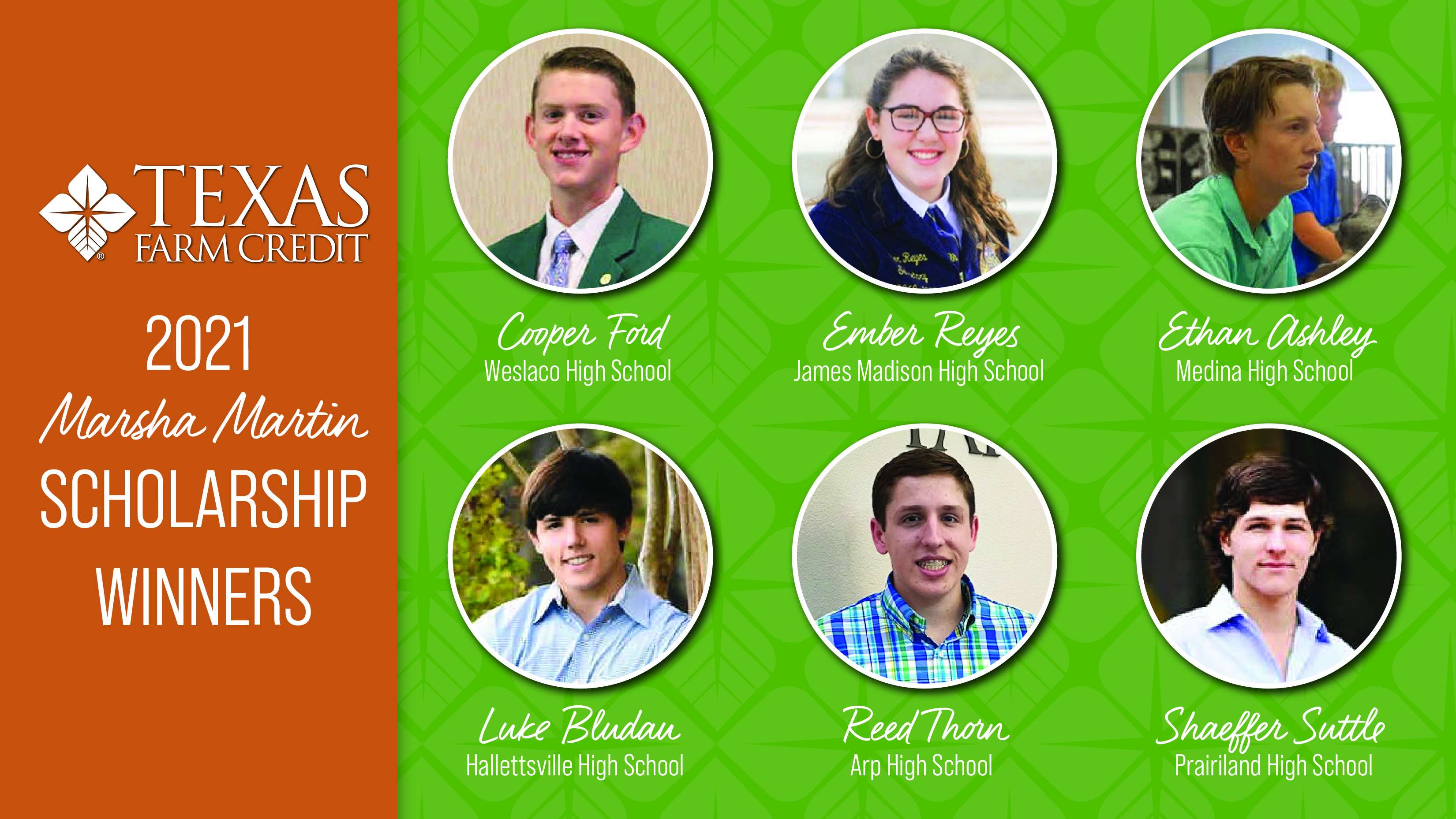 Texas Farm Credit Awards Scholarships to Deserving Ag Students